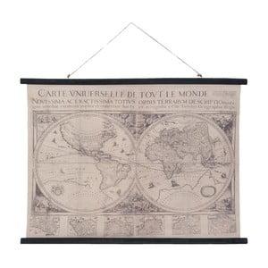 Nástenná čierno-biela mapa Clayre & Eef