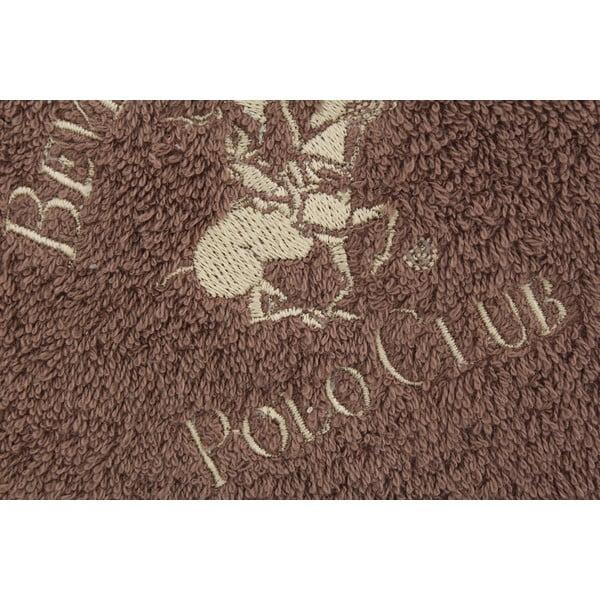 Hnedý bavlnený uterák BHPC, 50x100cm