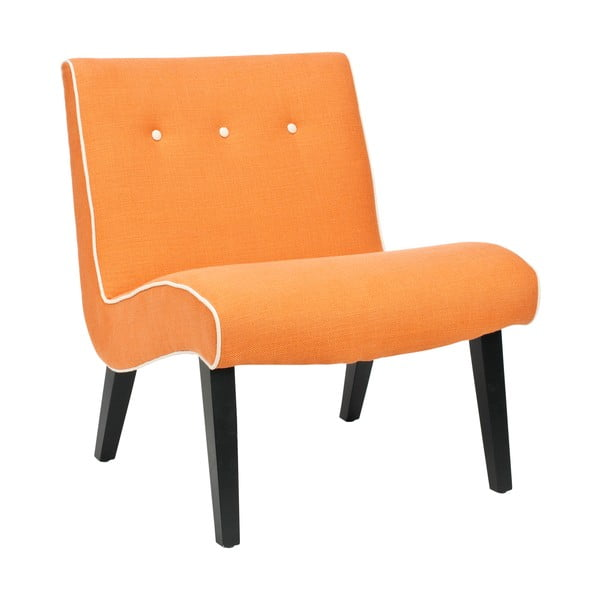 Oranžové kreslo Safavieh Mandel