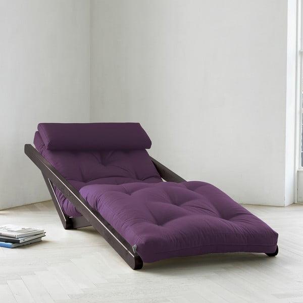 Leňoška Karup Figo, Wenge/Purple, 70 cm