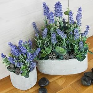 Kvetinová dekorácia od Aranžérie, sada kvetináčov s levanduľami