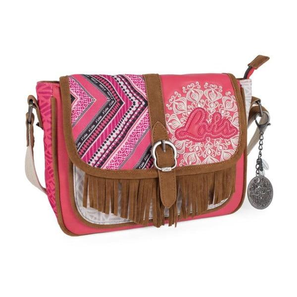 Ružovo-biela kabelka Lois, 26 x 20 cm
