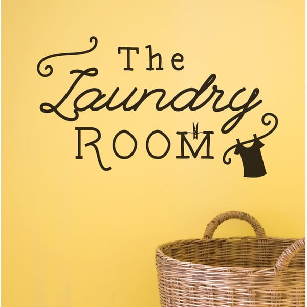 Dekoratívna nástenná samolepka Laundry Room