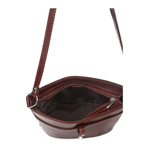 Hnedá kožená kabelka Markese Severina