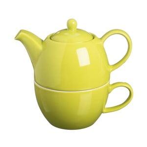 Čajová kanvica s hrnčekom čaju One Bright Green, 400 ml