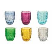 Sada 6 farebných pohárov na vodu Villa d'Este Bicchieri Syrah, 235 ml