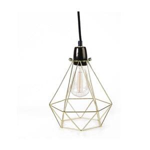 Svetlo so zlatým tienidlom a čiernym káblom Filament Style Diamond #1