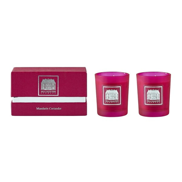 Sada 2 sviečok s vôňou koriandra a mandarínky Villa Collection