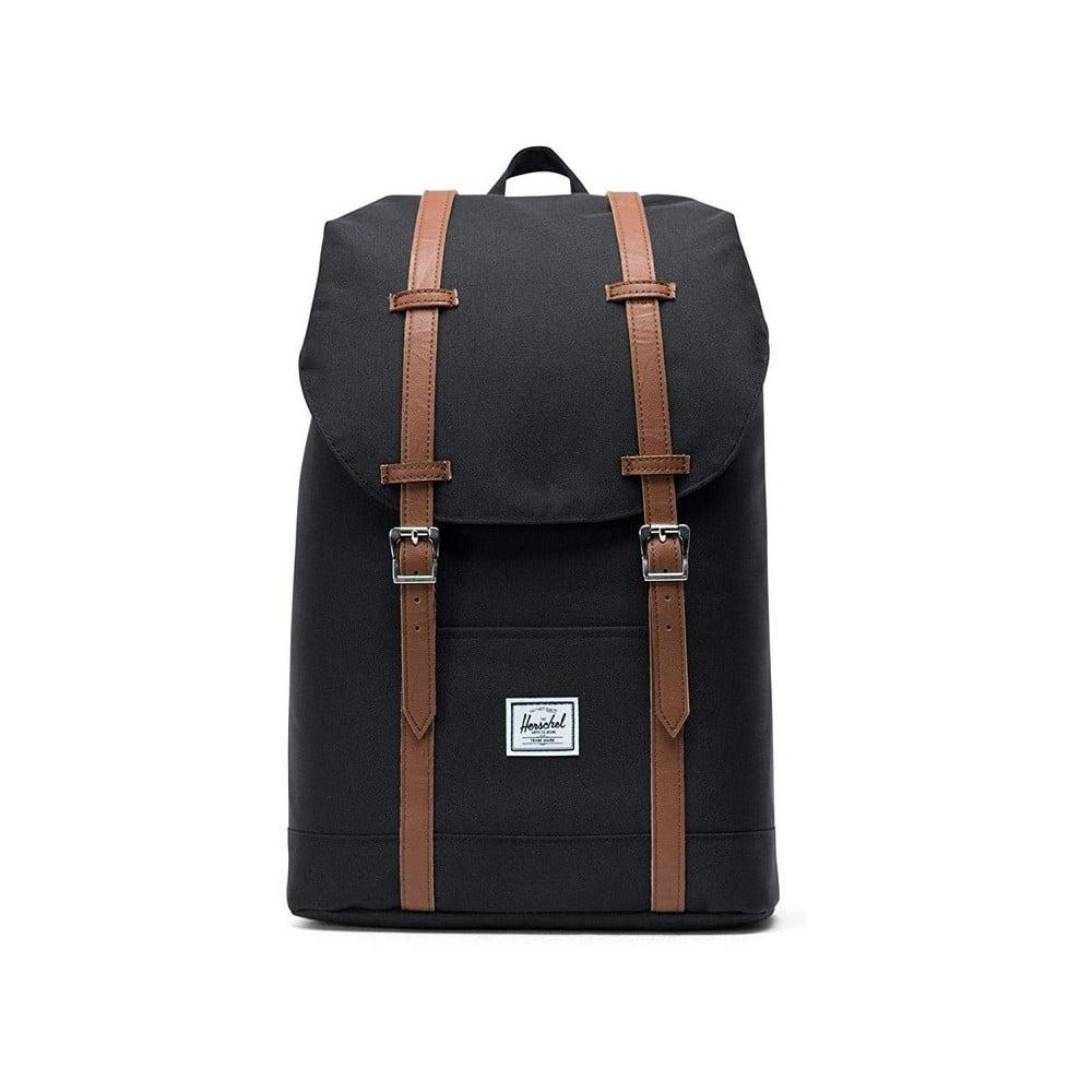 Čierny batoh s popruhmi zo syntetickej kože Herschel Retreat, 19,5 l