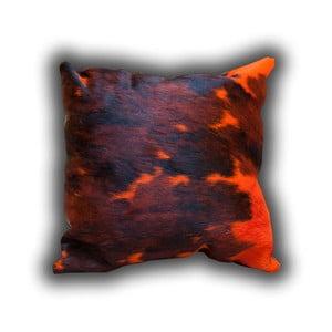 Vankúš z pravej kože Pipsa Dyed Orange, 50×50cm