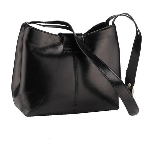 Kožená kabelka Kiwi, čierna