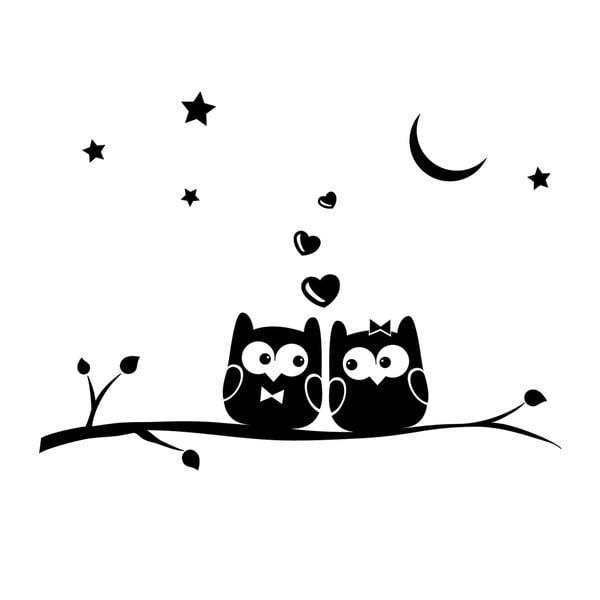 Samolepka Ambiance Owl Lovers