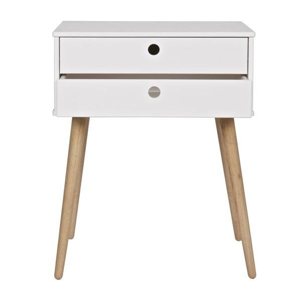 Nočný stolík Retro White