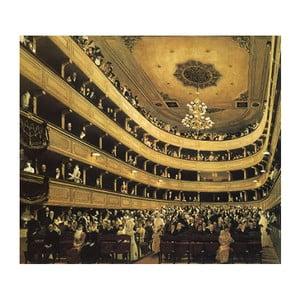Reprodukcia obrazu Gustav Klimt - Auditorium in the Old Burgtheater Vienna, 50x50cm