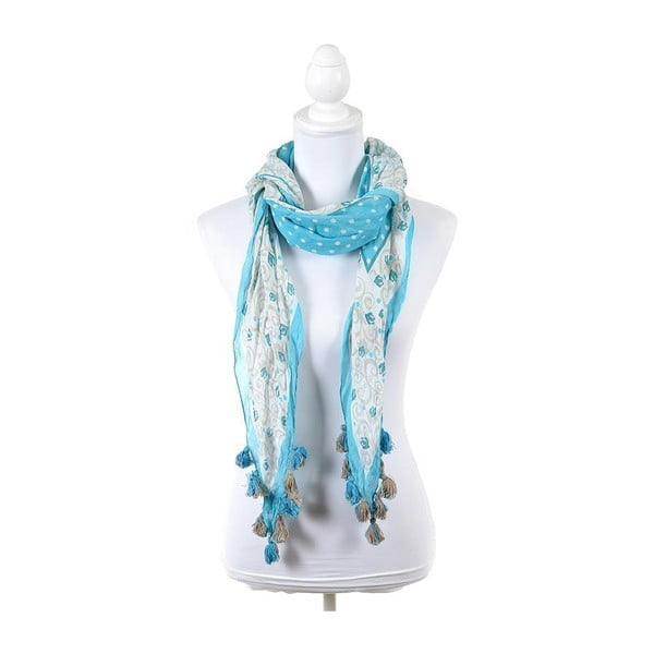 Šatka/pareo BLE Inart 65x200 cm, svetlo modrá