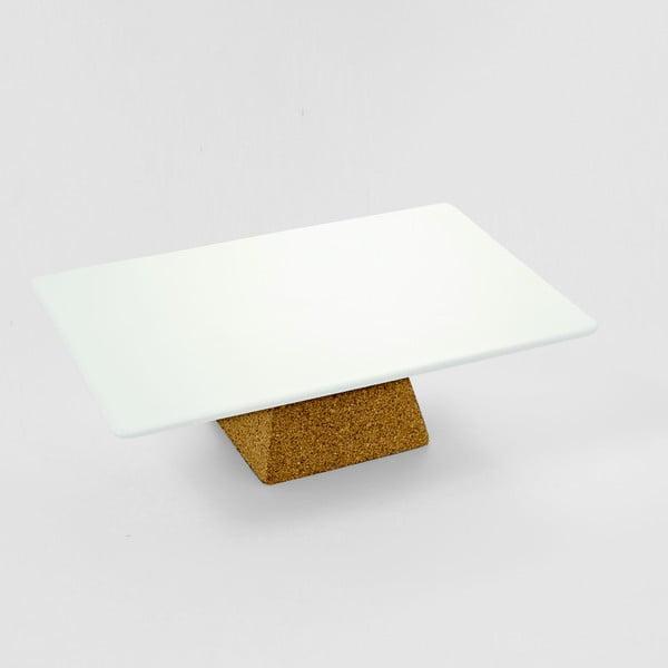 Servírovací podnos na podstavci Cork, 29x19 cm