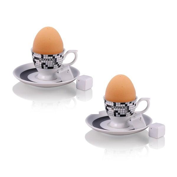 Sada 2 stojanov na vajíčka Cross so soľničkou a koreničkou