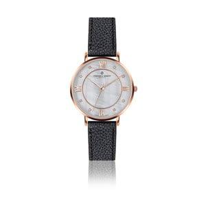 Dámske hodinky s čiernym remienkom z pravej kože Frederic Graff Rose Liskamm Lychee Black Leather