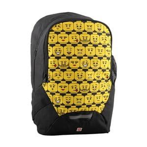 Čierno-žltý školský batoh LEGO® Minifigures Heads