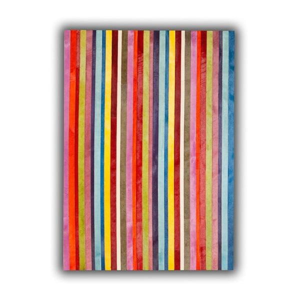 Koberec z pravej kože Vertical Stripes, 140x200 cm