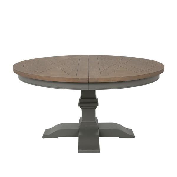 Sivý okrúhly rozkladací stôl Canett Royal Dining