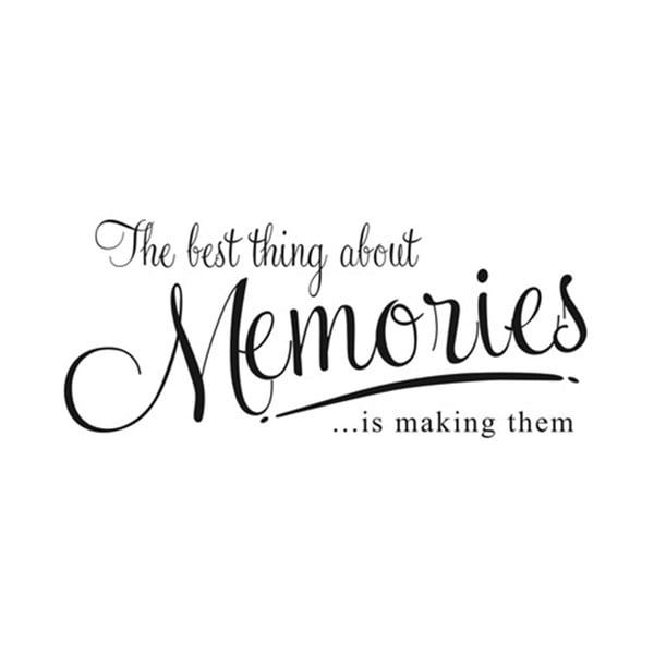 Dekoratívna samolepka Memories, 31x72 cm