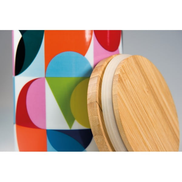 Porcelánová dóza s dreveným vrchnákom Remember Solenie, 1.62 x ⌀ 1.25 cm