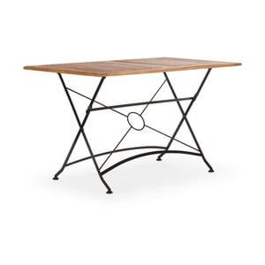 Čierny skladací záhradný stôl z agátového dreva SOB