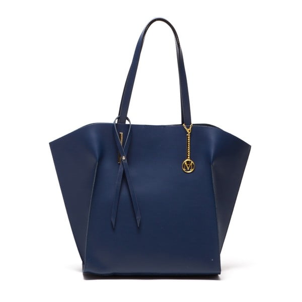 Kožená kabelka Tote 388 Blu