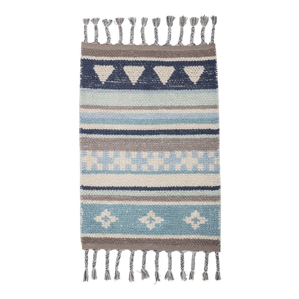 Modro-sivý detský bavlnený koberec Bloomingville Cool, 60 x 90 cm