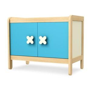 Modrá dvojdverová skrinka Timoore Simple