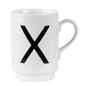 Porcelánový písmenkový hrnček X