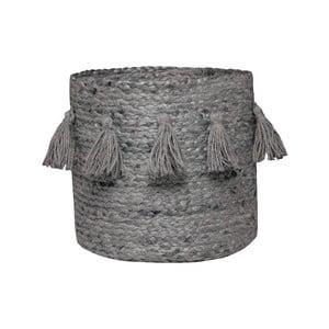 Sivý úložný košík z konopného vlákna Nattiot, Ø30 cm