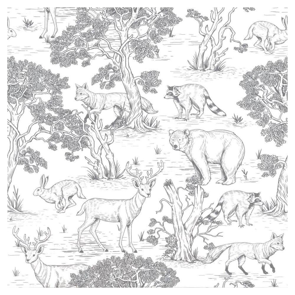 Súprava nástenných tapiet s motívom lesných zvierat Dekornik