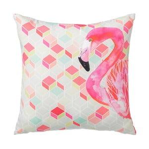 Vankúš Half Flamingo, 45x45 cm