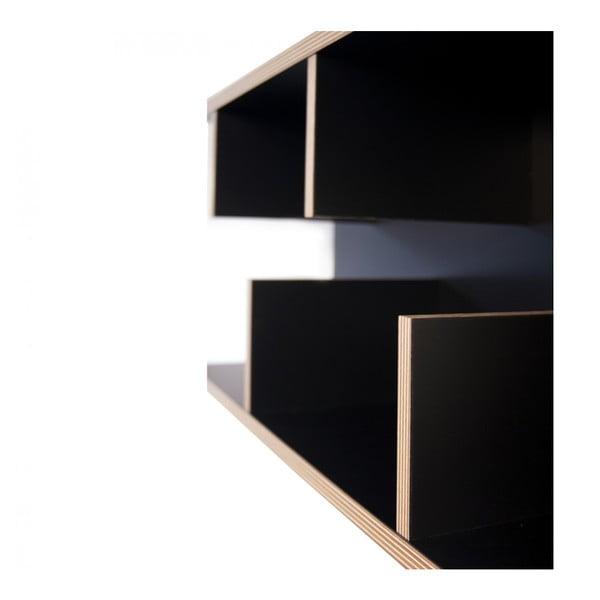 Čierny nástenný policový systém TemaHome Bern, 90cm