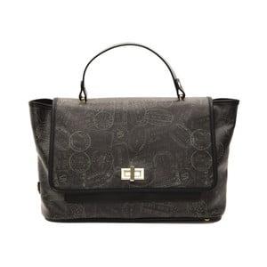 Čierna kožená kabelka Alviero Martini Lucille Lungo