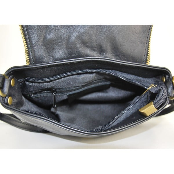 Kožená kabelka Clementis Nero