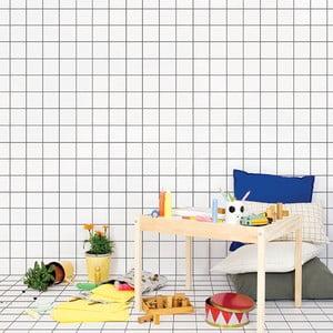 Dekoratívna samolepka na stenu Grid Wallpaper