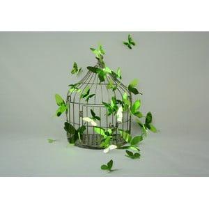 Sada 12 adhezívnych 3D samolepiek Ambiance Butterflies Green