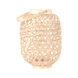 Béžový lampáš Present Time Lattice, výška 27 cm