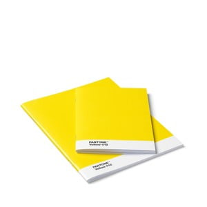 Sada 2 žltých zápisnikov Pantone