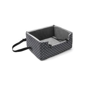 Sivá prepravná taška pre psa do auta Marendog Paws, 46 × 57 × 25 cm