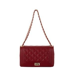 Kožená kabelka Andrea Cardone 2024 Ruby Red