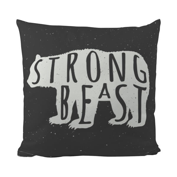 Vankúšik Black Shake Strong Beast, 50x50 cm