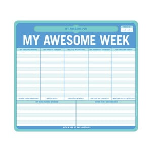 Týždenný zápisník My Awesome Week