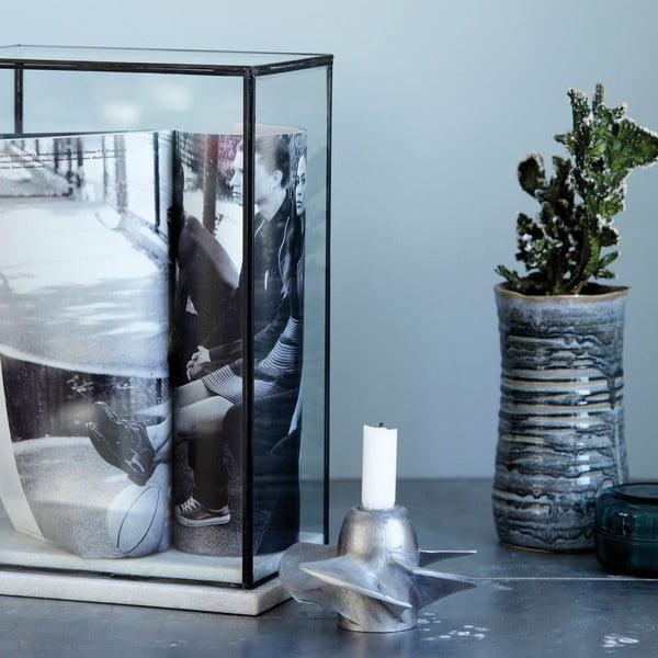 Sklenená vitrína s mramorovým rámom House Doctor