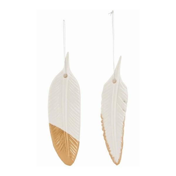 Sada 2 závesných keramických pierok Ornament Feather