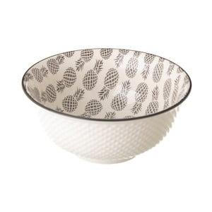 Sivo-biela porcelánová miska Unimasa Pinna, priemer 16,3 cm