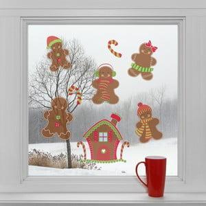 Elektrostatické vianočné samolepky Perníky